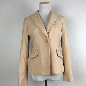 Ann Taylor Womens Single Button Blazer Jacket Sz 2